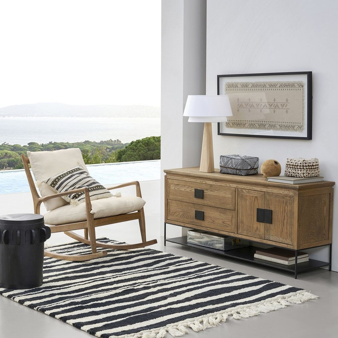meuble tv enfilade ling chene naturel