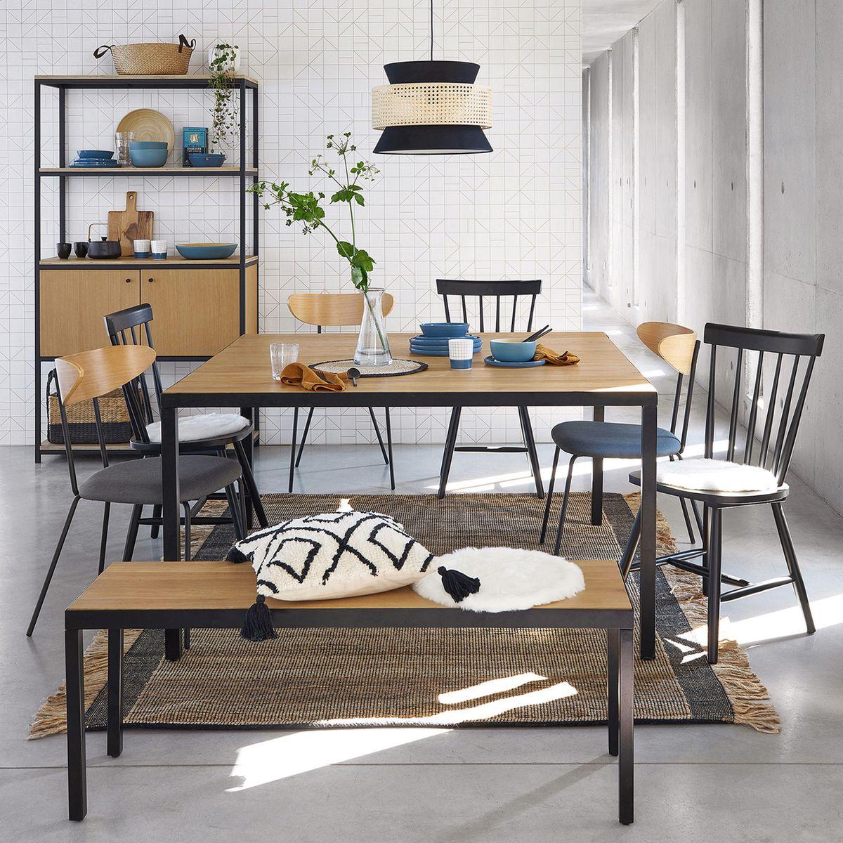 Table à Manger Carrée Nova En Chêne 8 Couverts Table La