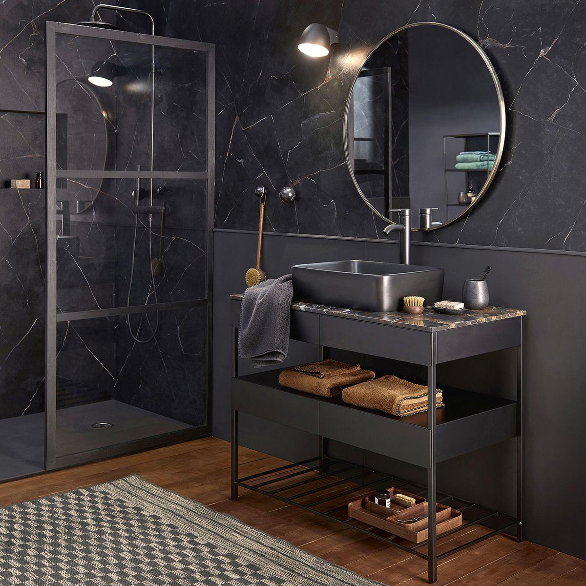 Meuble de salle de bain marbre Limpo Ambré - Salle de bain Am.Pm