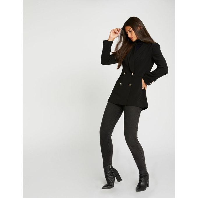 Blazer cintré à col châle effet croisé Morgan noir vêtements