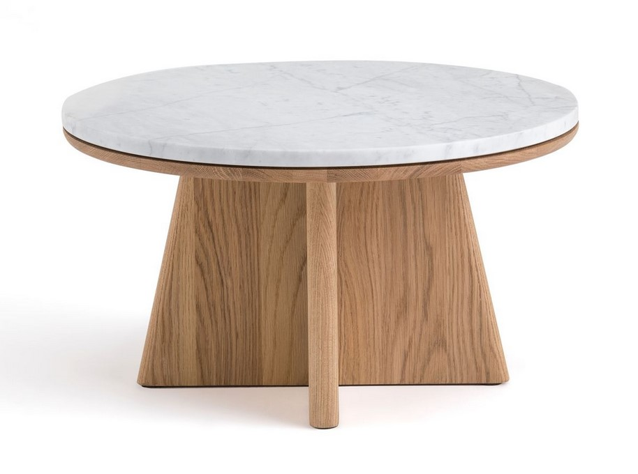 Table basse ronde Échos design E. Gallina