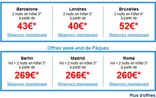 Week end aps cher Expedia