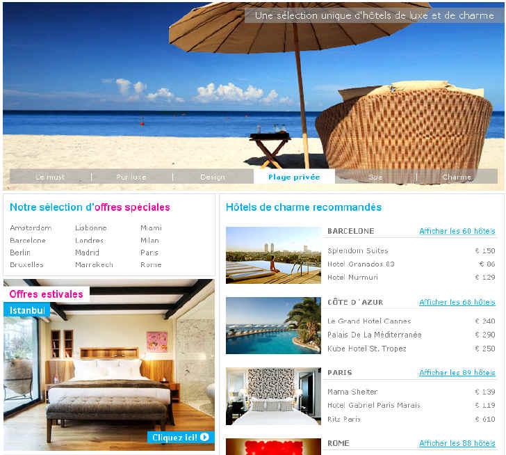 Splendia FR - Hotels Splendia Hotel de Charme et Luxe pas Cher