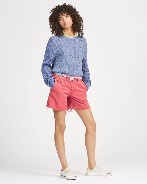 Polo Ralph Lauren Pull à pavillon en coton Bleu Multi pour Femme