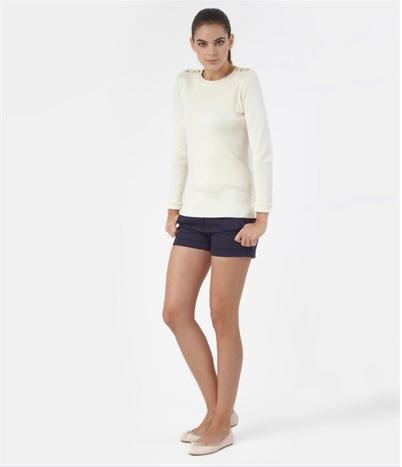 livraison gratuite c9f69 1a586 Pull Petit Bateau - L'incontournable pull marin femme blanc ...