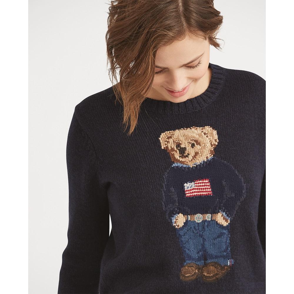 tout neuf 68841 3b29f Pull Polo Bear en coton et lin Polo Ralph Lauren - Pull Femme Ralph Lauren