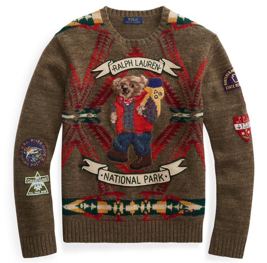 129630ea15a5 Polo Ralph Lauren Pull Polo Bear en laine mélangée Pueblo avec Ours - Pull  Femme Ralph Lauren  (Mode)  Ralph Lauren Polo Ralph Lauren Pull Polo Bear  en ...