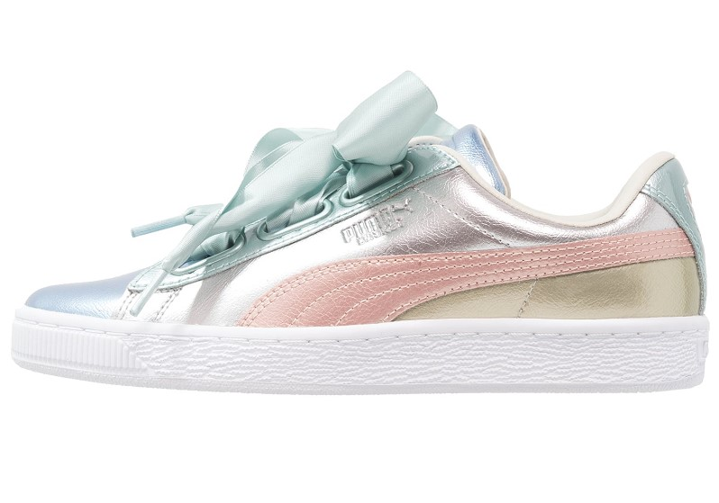 Puma BASKET HEART BAUBLE Baskets basses silver Baskets