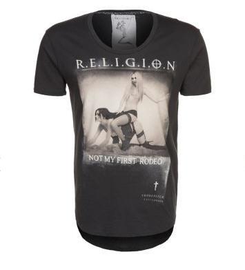 Religion RODEO T-shirt imprimé noir - T-Shirt