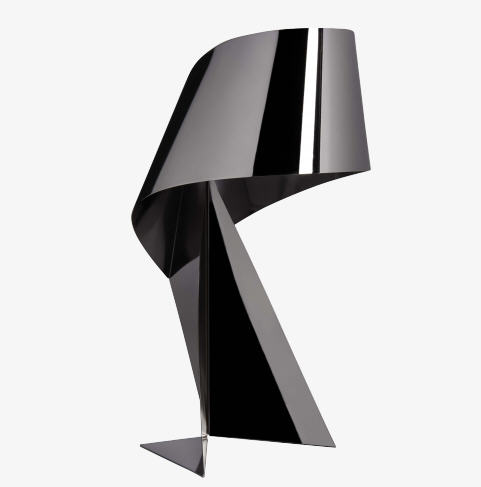 Ribbon Lampe de table grand modèle, version cuivrée | Selency