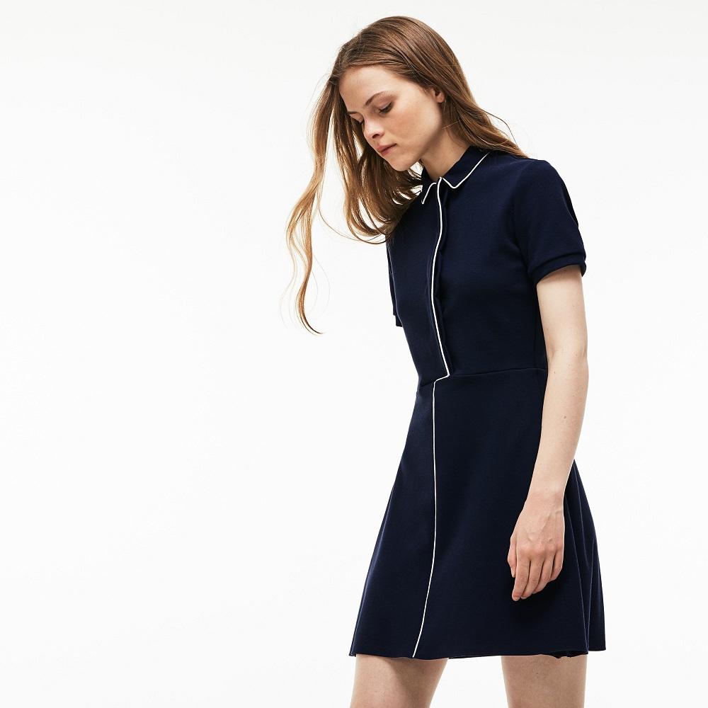 Uni En Lacoste Robe De Polo Mini Coton Stretch Femme Piqué sQodhtCxBr