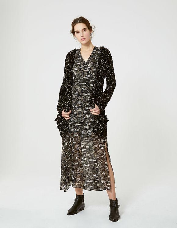 Robe longue aborigène Noir IKKS pour Femme
