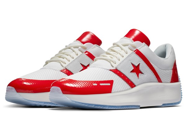 Converse Run Star Low Top vintage white/red