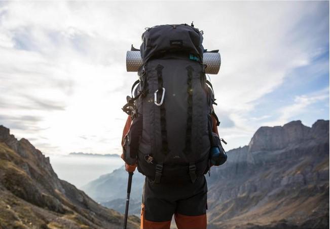authentique regarder conception adroite Sac à dos TREK900 70+10 H GRIS FORCLAZ pas cher - Sac à dos ...