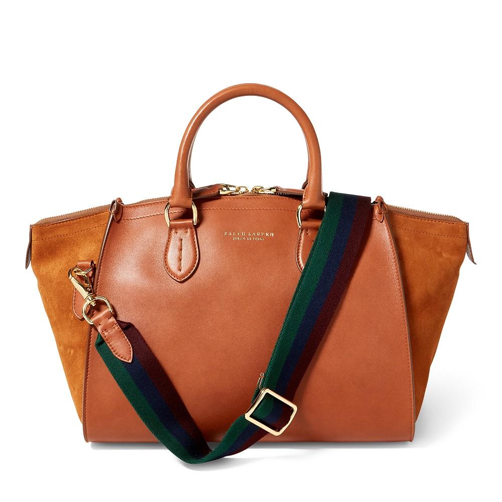 cd1cb1ddae9e Luxe Calf Traveller Bag Ralph Lauren - Soldes Sacs à Main Ralph Lauren
