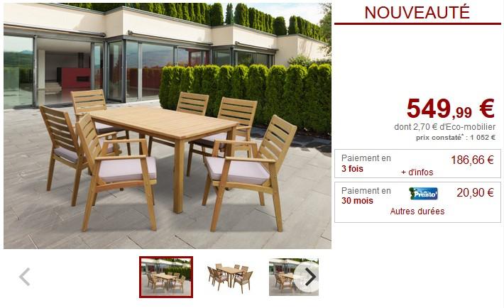 Salle à manger de jardin AZZAO pas cher - Salle à manger ...