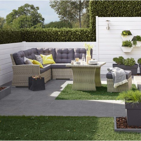 salon de jardin daveport r sine tress e salon de jardin leroy merlin. Black Bedroom Furniture Sets. Home Design Ideas