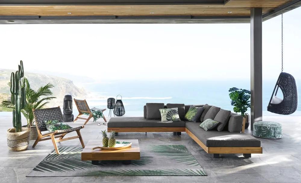 Canapé de Jardin en Acacia Sur Iziva - Iziva.com
