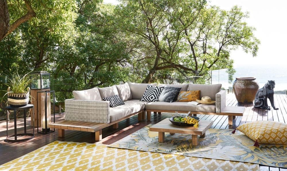 Salon de jardin 4/6 places Tillandsia en acacia massif et ...
