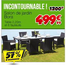 Salon de jardin Cdiscount - Salon de jardin Bora Prix 499,99 ...