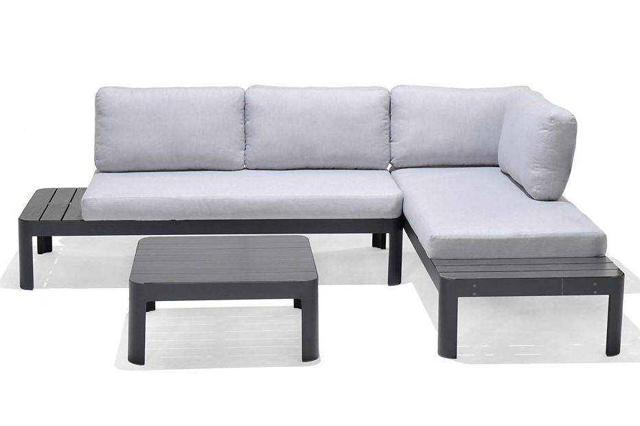salon de jardin m tal blooma amorio salon de jardin. Black Bedroom Furniture Sets. Home Design Ideas