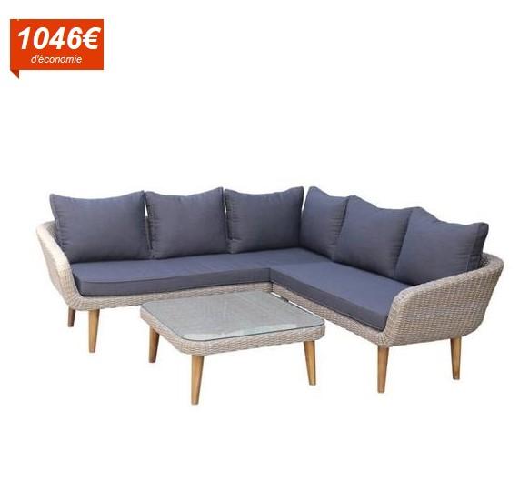 salon de jardin zania r sine pas cher salon de jardin. Black Bedroom Furniture Sets. Home Design Ideas