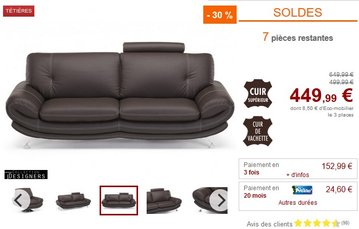 soldes canap vente unique canap 2 ou 3 places coralie en cuir. Black Bedroom Furniture Sets. Home Design Ideas