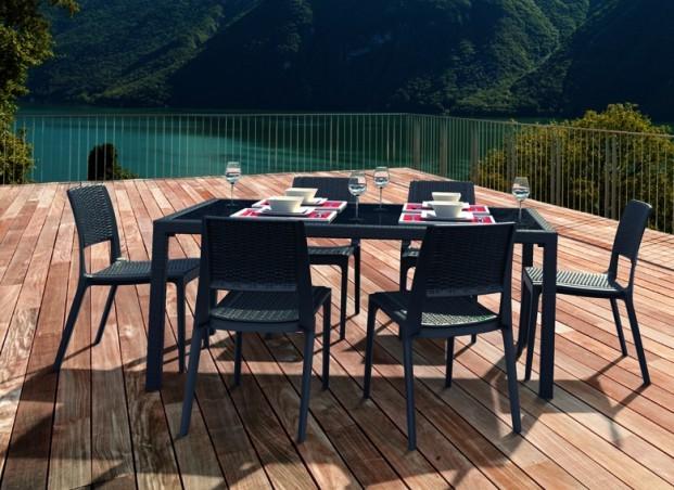 Salon de jardin en résine LILA, Salon de jardin AchatDesign - Iziva.com
