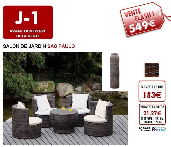 Vente Flash SALON DE JARDIN SAO PAULO 549 Euros - Vente Unique ...