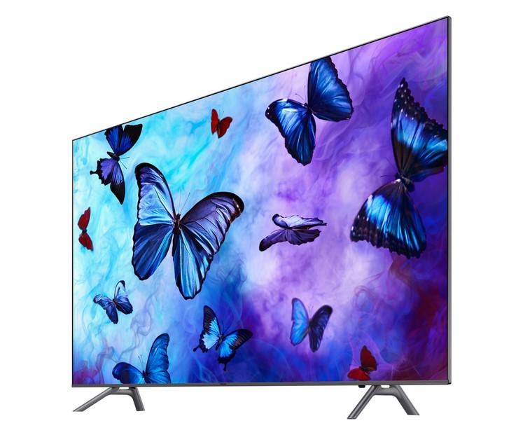 SAMSUNG 55Q6F 2018 TV QLED 4K UHD 140 cm pas cher - Soldes Téléviseur Auchan