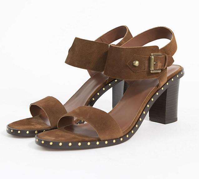 Sandales à talons Folk camel IKKS pour Femme