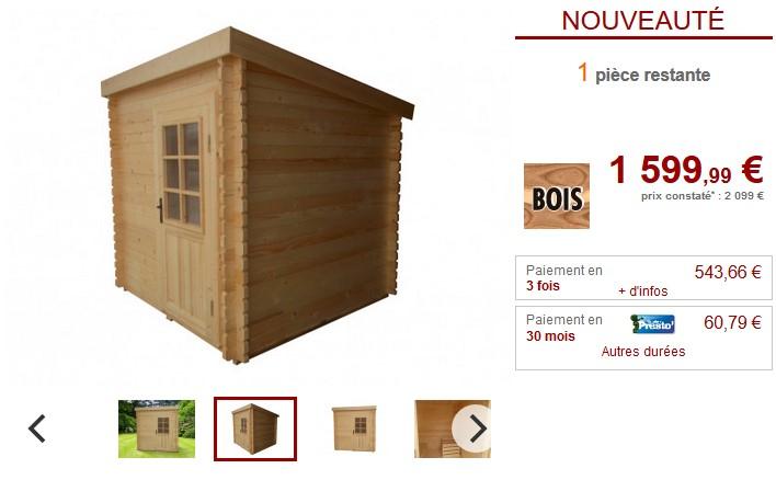 Sauna d'extérieur HANKO 3/4 places Poêle 6kW inclus - Vente Unique
