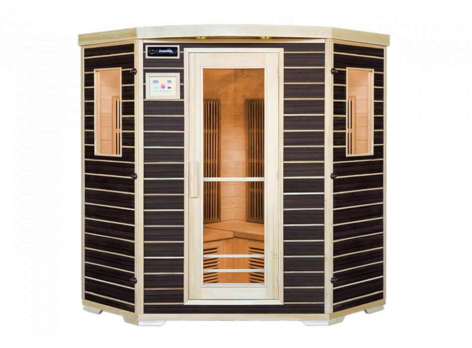 sauna pas cher bonnes affaires sauna vente unique sauna infrarouge places wengu gamme carbone. Black Bedroom Furniture Sets. Home Design Ideas