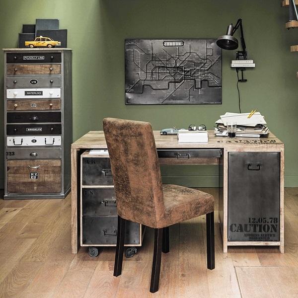 semainier en bois effet vieilli lazare semainier maisons du monde. Black Bedroom Furniture Sets. Home Design Ideas