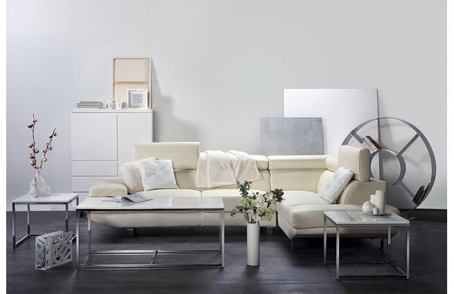 Set 3 Tables Gigognes Design Métal Blanc Melha Table Basse Miliboo