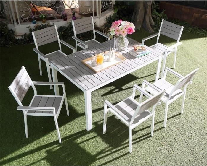 Siderno 6 Salon de jardin en aluminium et polywood pas cher - Soldes Salon  de jardin ManoMano