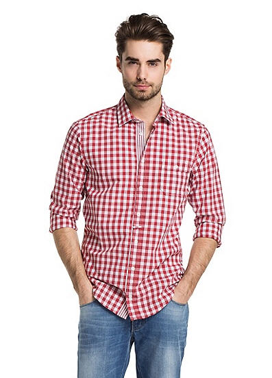 Chemise décontractée coupe Slim Fit EslimE en lin par BOSS Orange