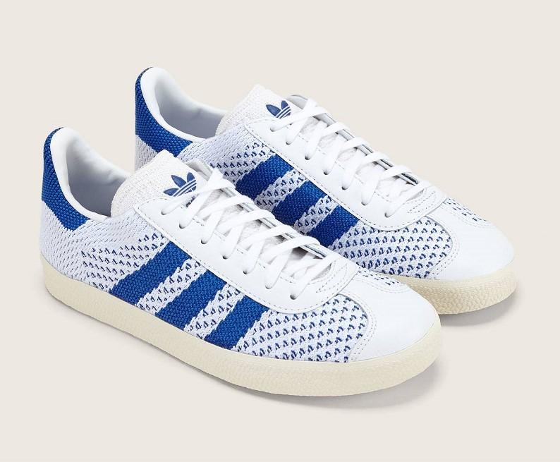 Adidas Gazelle PK Sneakers bi-matières bleu et blanc pas cher ...
