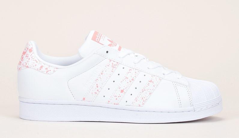 Adidas Originals Superstar Sneakers en cuir blanc détails