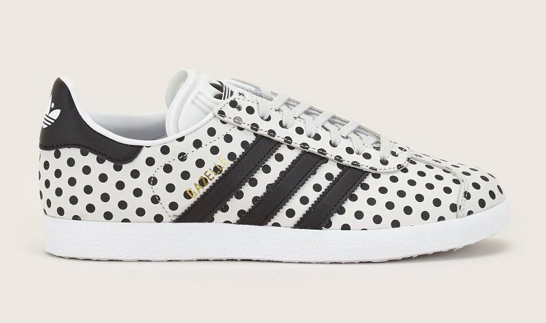 Adidas Gazelle Sneakers en cuir gris et noir Baskets Femme