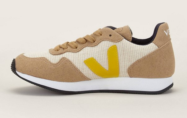 Veja Sneakers en mesh beige - Monshowroom