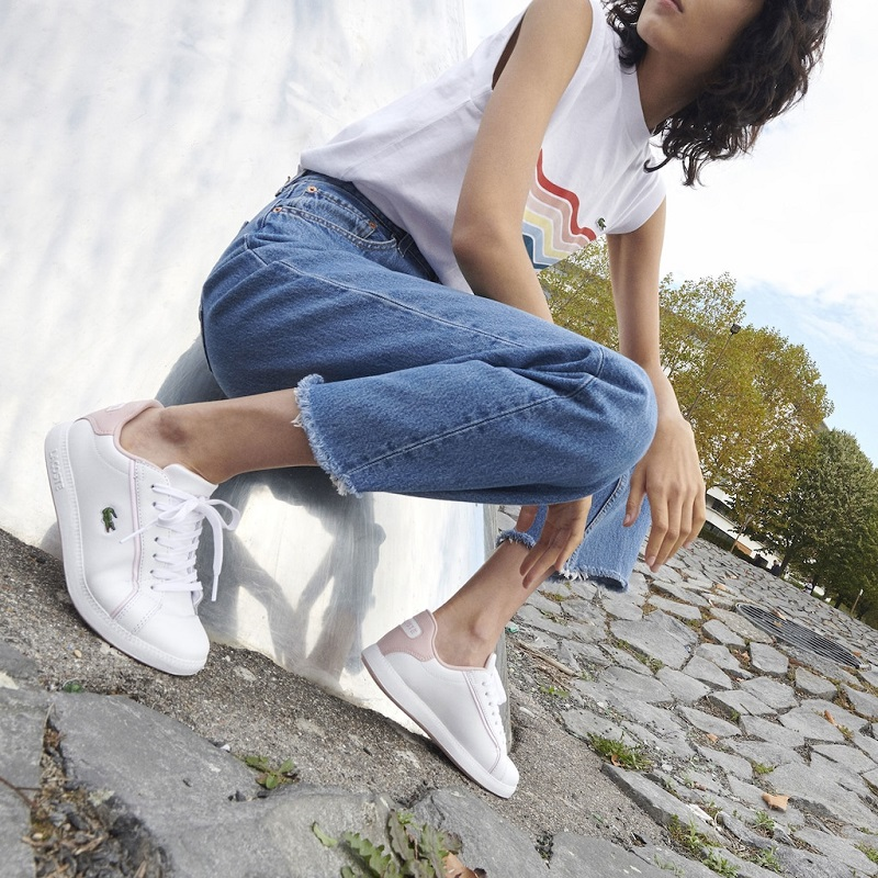 Sneakers Graduate Lacoste en cuir bicolore pour Femme