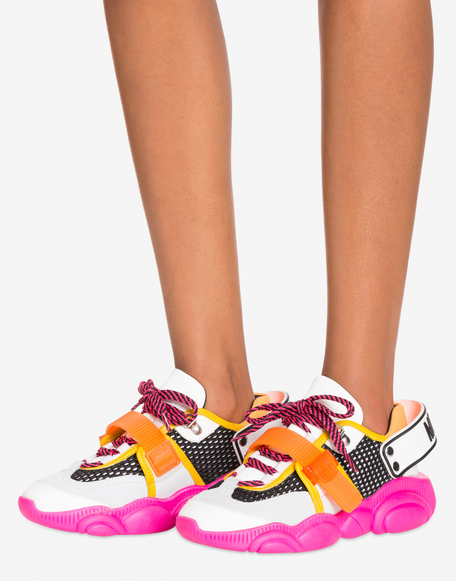 Sneakers Teddy Shoes Fluo Moschino Teddy Fluo pour Femme