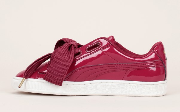 Wn's Puma Vernies Patent Heart Sneakers Bordeaux sdxCthQr
