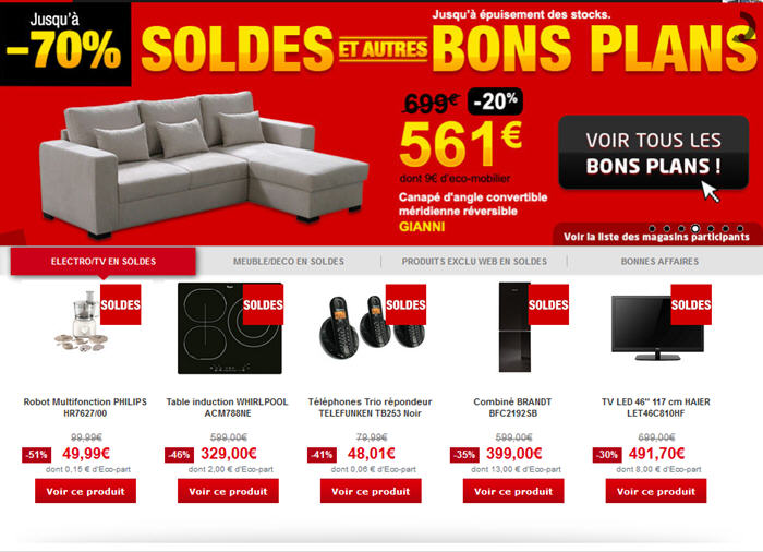 soldes but canap electrom nager 30 but fr. Black Bedroom Furniture Sets. Home Design Ideas