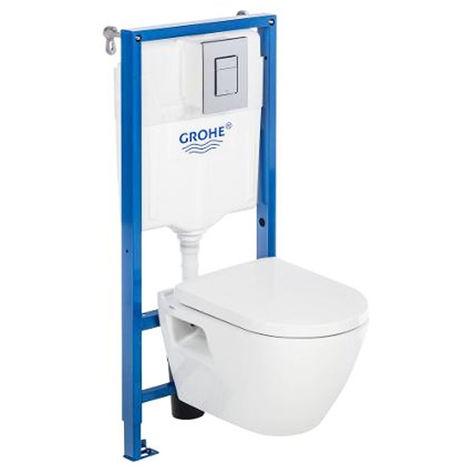 grohe pack bati wc solido perfect compact pas cher soldes wc suspendu manomano