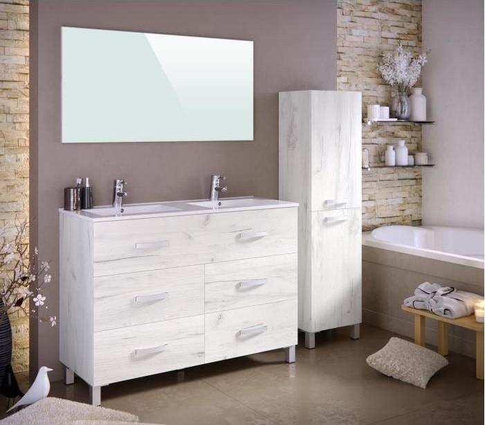 STELLA Ensemble salle de bain double vasque avec miroir pas ...