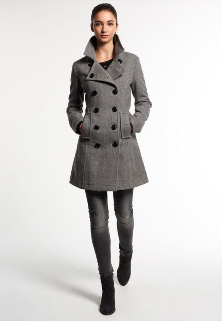 26f82ea3c04 Superdry BRIDGE Manteau classique grey herringbone - Manteau Femme Zalando