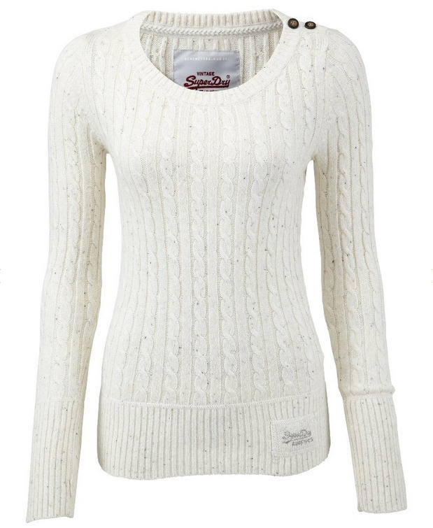 Superdry CROYDE CABLE Pullover winter - Pull