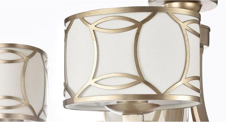 Suspension design 5 lampes métal doré FIBI